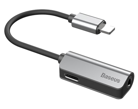 Baseus Lightning Male to Audio Jack and Lightning Female Adapter Cable