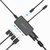 7 in 1  USB Type C Hub with VGA & HDMI Output - EDGENEO | The Leading Tech E-Commerce in Singapore