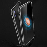 ROCK Anti-Knock Clear Case on the iPhone X Black Back