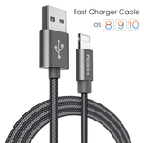 ROCK Ultra Durable Lightning 2.1A Nylon Braided Cable - EDGENEO | The Leading Tech E-Commerce in Singapore