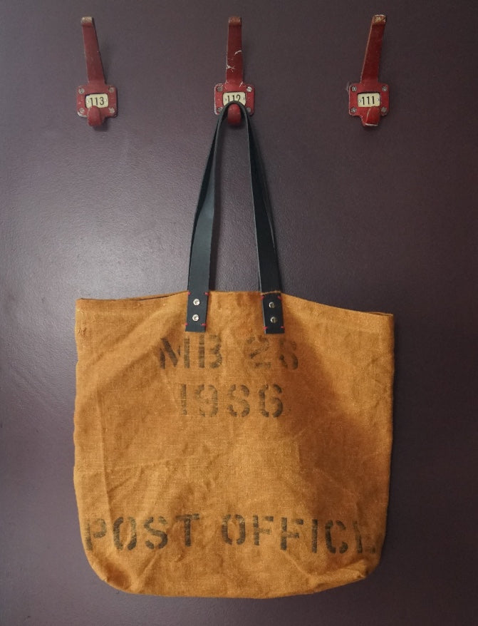 Vintage Post Office Linen Tote Bag