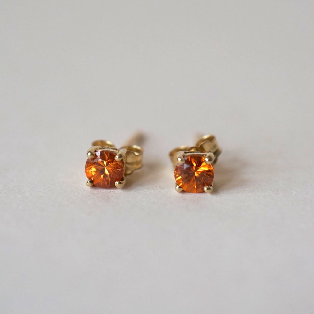 9ct Gold and Citrine Stud Earrings