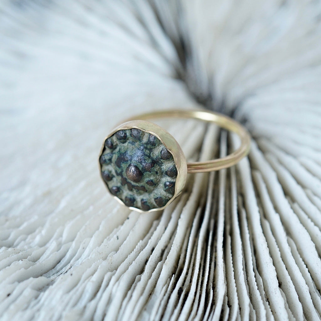 Gold and Bronze Bobbly Ring Badger's Velvet