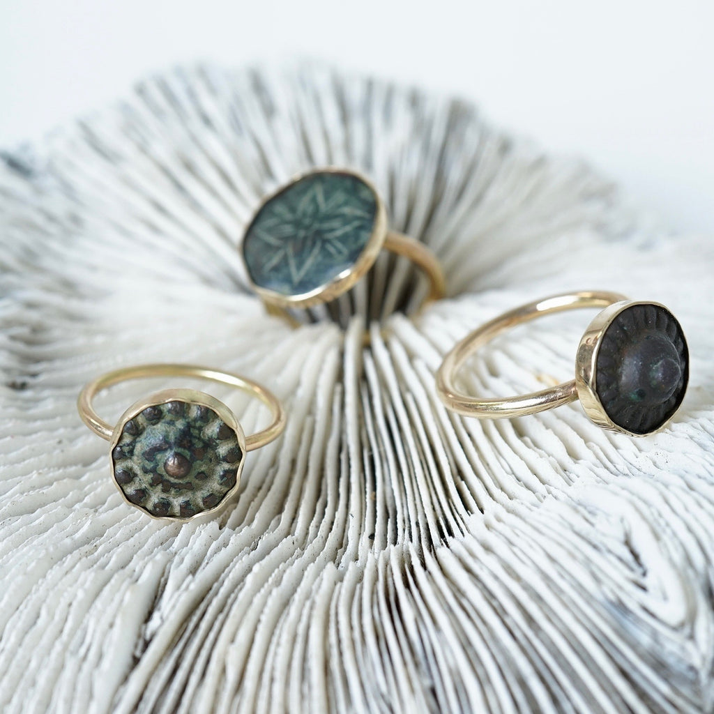 Gold and Bronze Rings Badger's Velvet