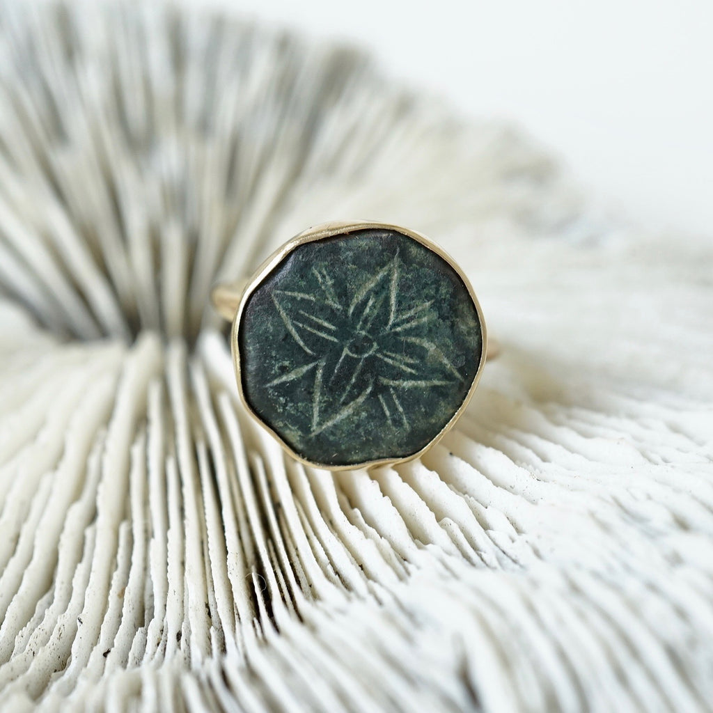 Gold and Bronze Little Star Ring Badger's Velvet