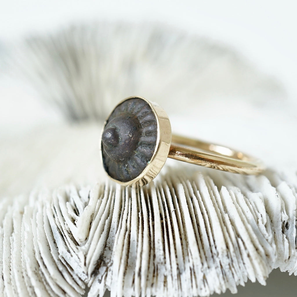 Gold and Bronze Concentric Circle Ring