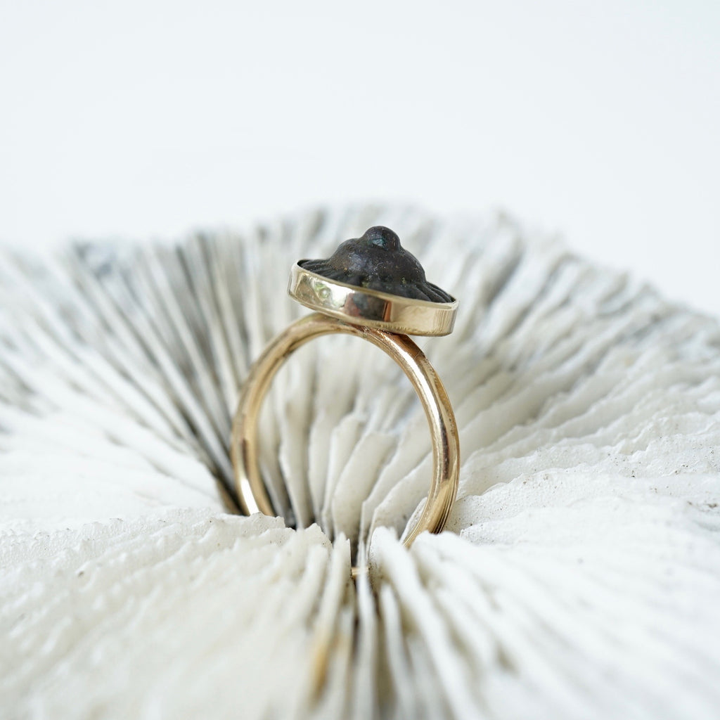 Gold and Bronze Concentric Circle Ring Badger's Velvet