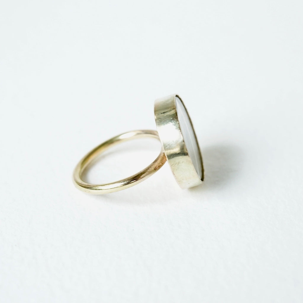 Lover's Eye Gold Ring Badger's Velvet