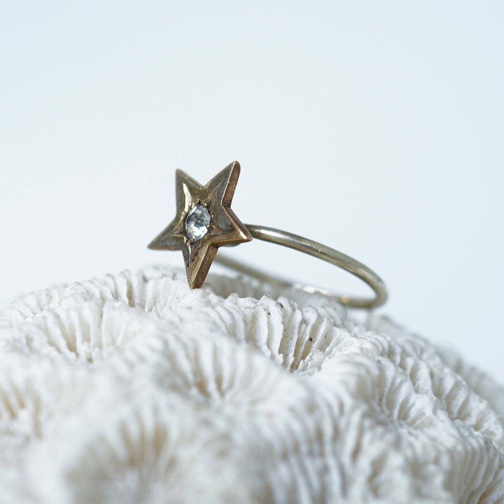 9ct Gold and Diamond Star Ring