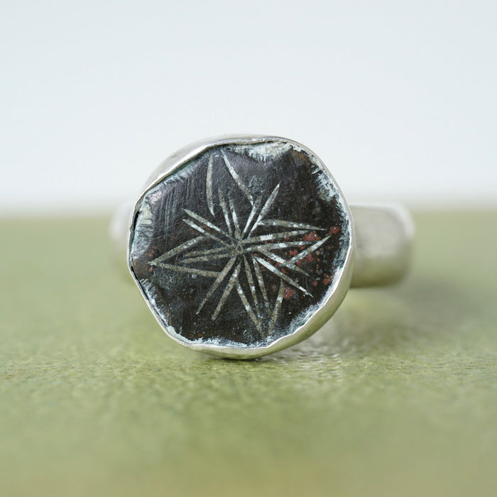 Silver and Bronze Little  Star Ring