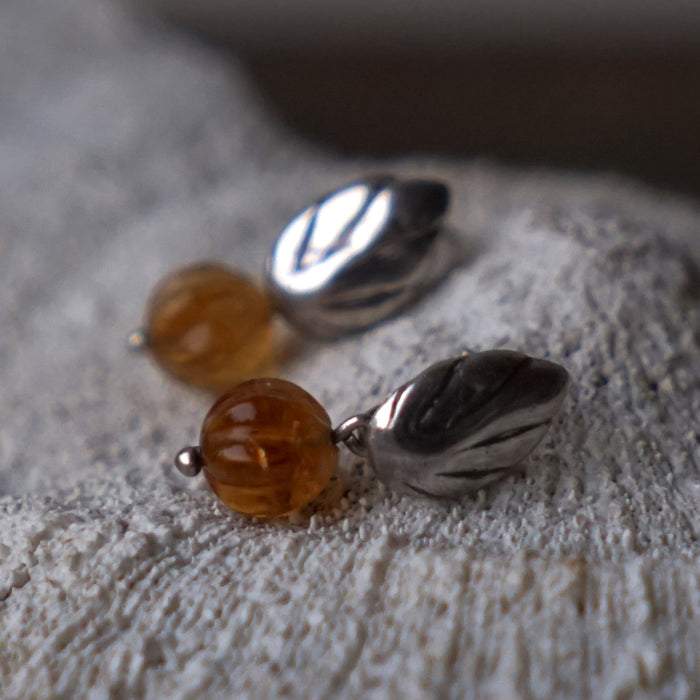Silver and Citrine Earrings
