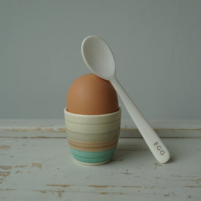 handmade Bone egg spoon. Bovine