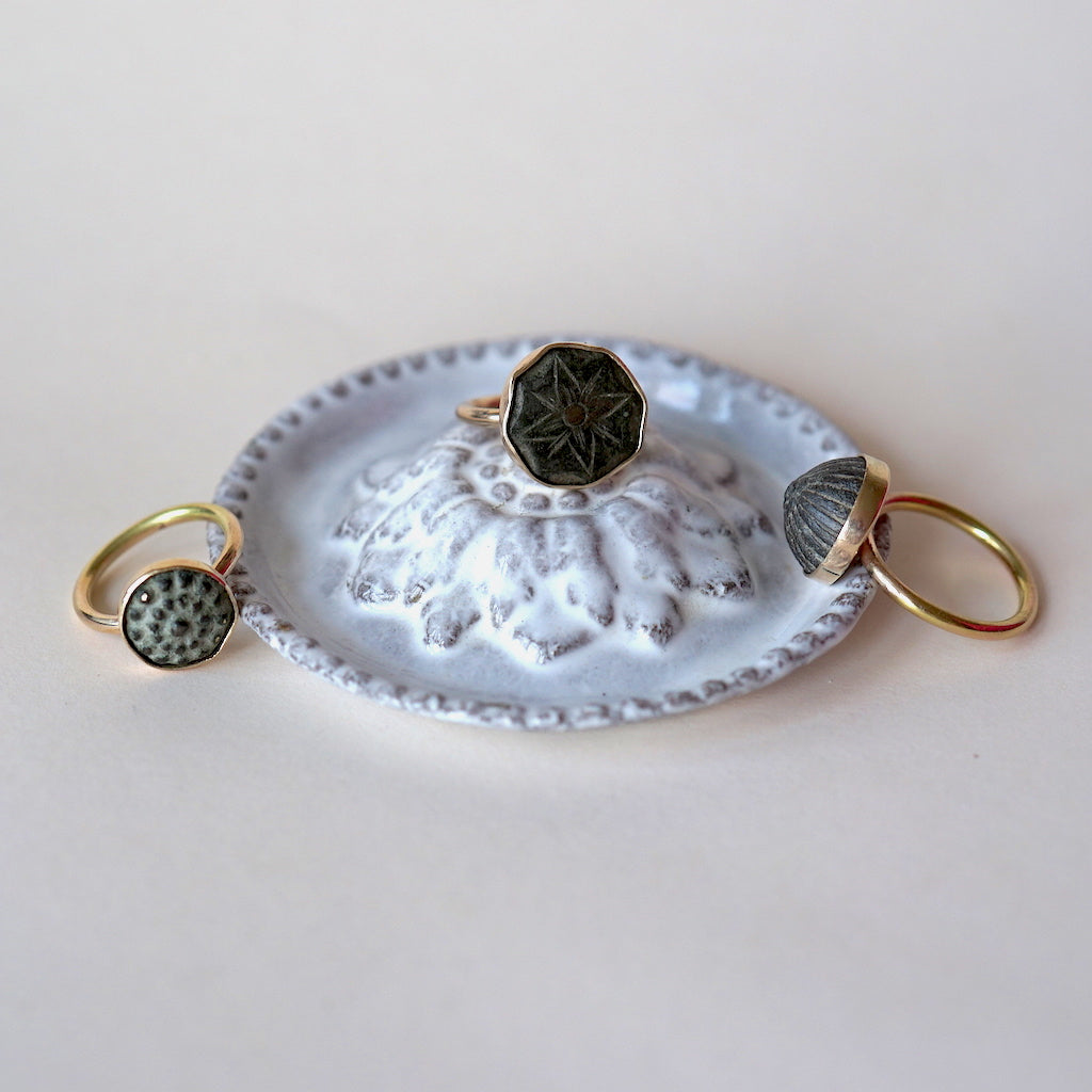 Gold and Bronze Dome Ring.