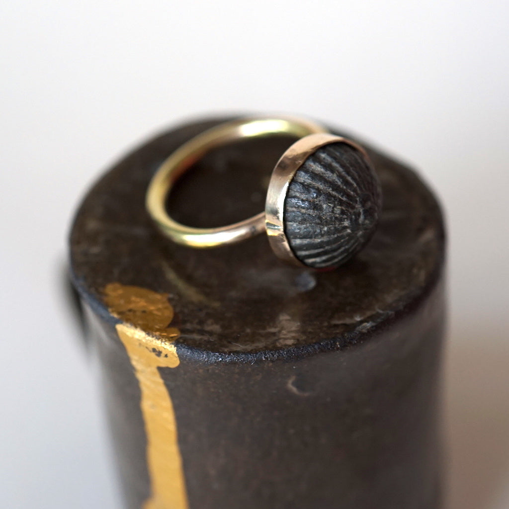 Gold and Bronze ring Badger's Velvet
