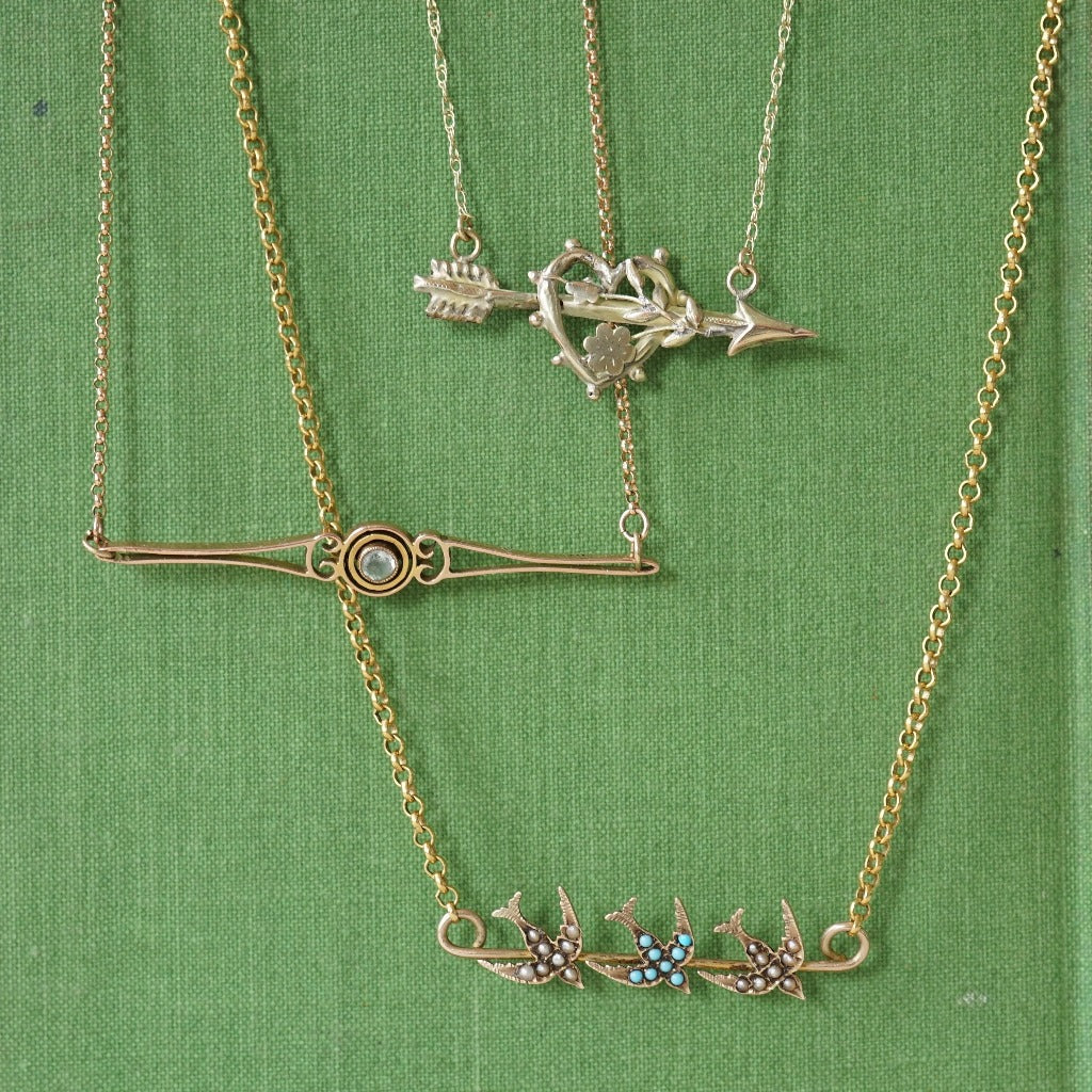 Gold repurposed necklaces. Badger's Velvet