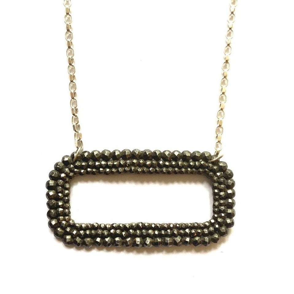 Georgian Fine Cut Steel Buckle Necklace
