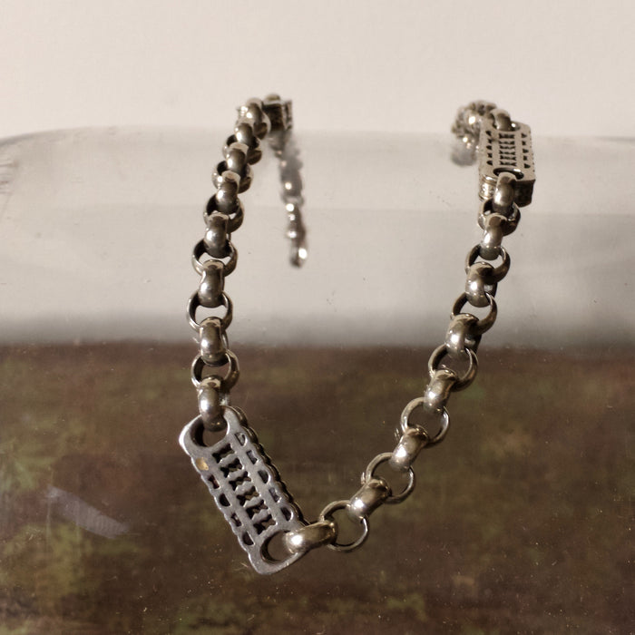 Silver Albert watch chain bracelet