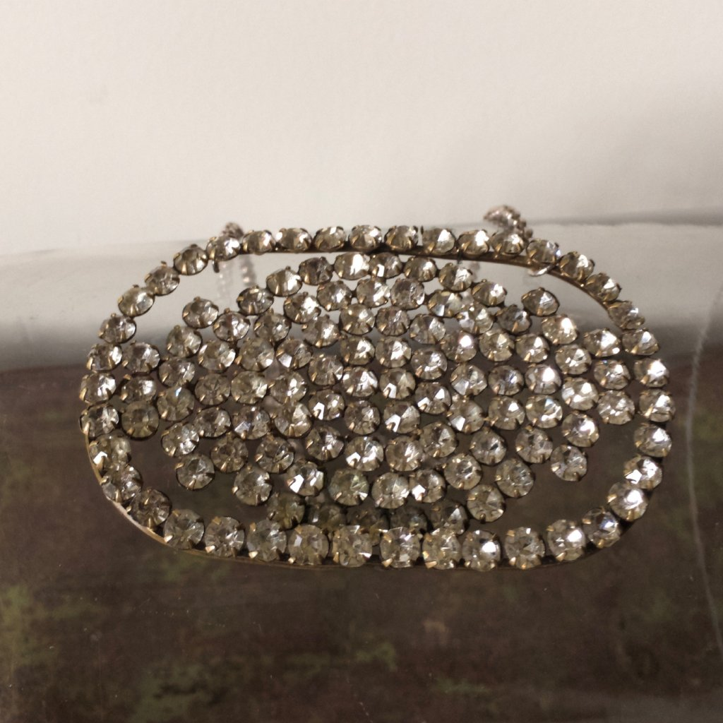 Large Victorian Diamante Belt Buckle Necklace.