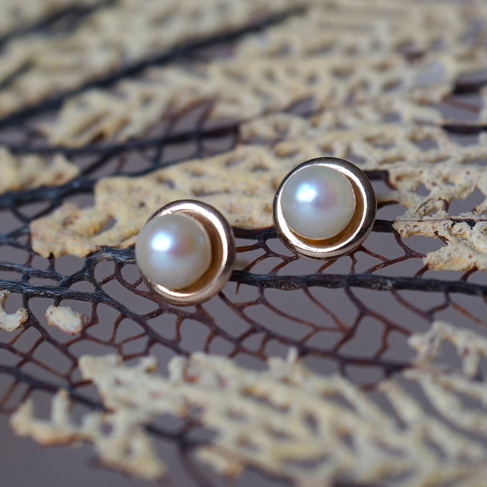 9ct Gold and Pearl Stud Earrings