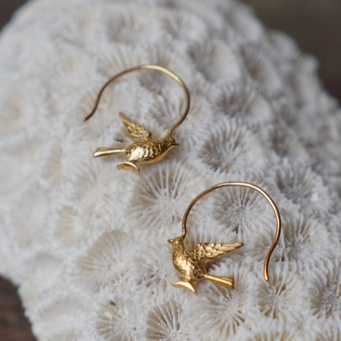 Gold Roman Bird Earrings