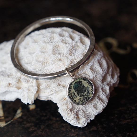 Silver and Roman coin bangle