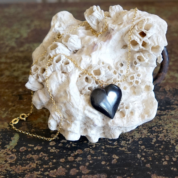Whitby Jet Heart Necklace