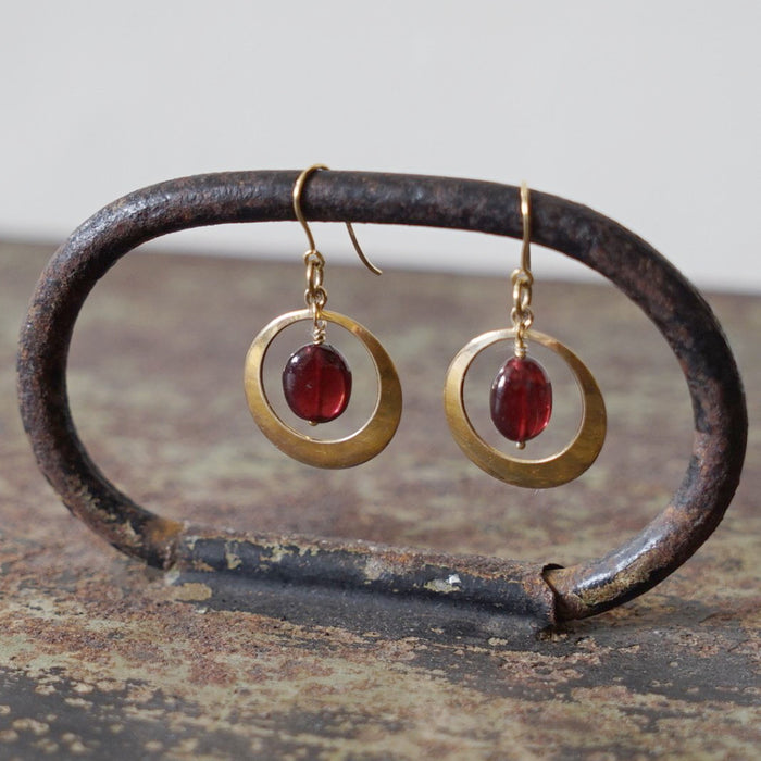Vintage gold & garnet earrings