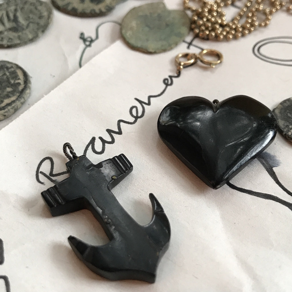 Whitby Jet Anchor Necklace