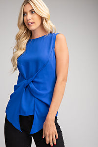 Sleeveless Front Twist Top