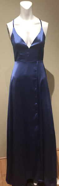 Cornflower Satin Gown