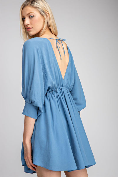 Kimono Dress with Back Tie