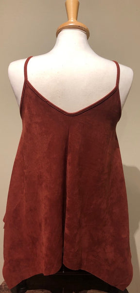 Faux Suede Cami Top