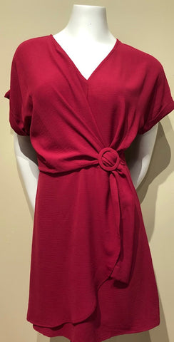 Faux Belt Dress
