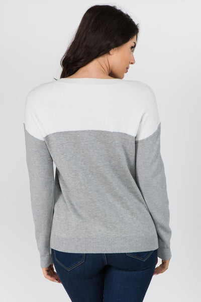 Meghan Color Block Sweater