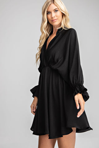 Kimono Dress With Ruffles