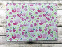 Dainty Pink and Green Floral Chopping Board