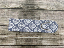 Blue and White Damask Bookmark