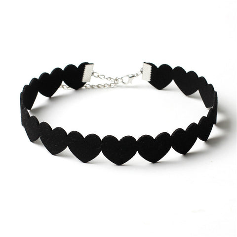 Little Black Hearts Choker
