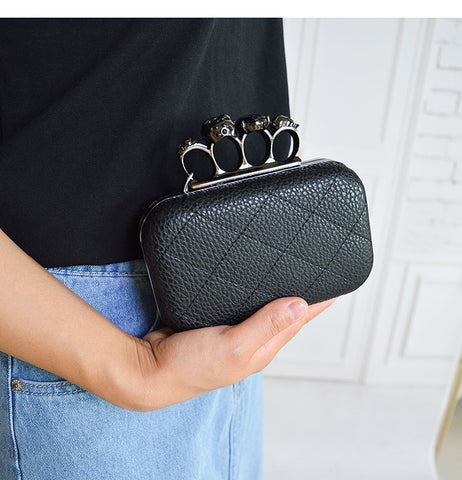 Retro Skull Ring Clutch Bag