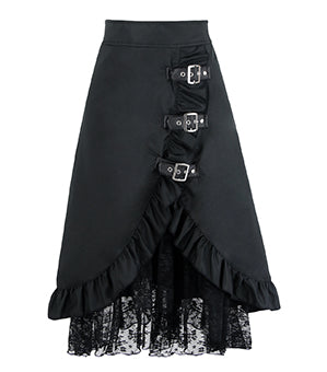 Black Victorian Asymmetrical Skirt