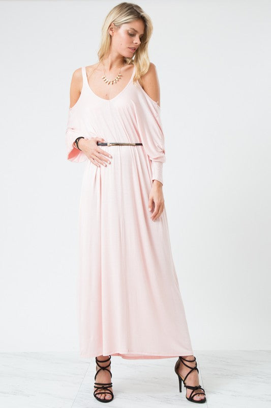Best Yet Cold Shoulder Maxi