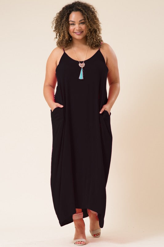 Curvy Miesha Maxi Dress with Pockets (Additional colors available)