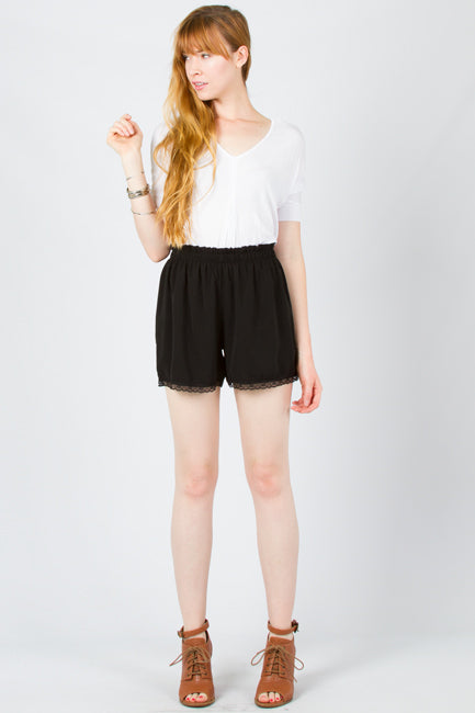 Kennebec Lace trim Shorts