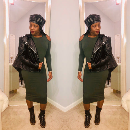 Army Green Bodycon