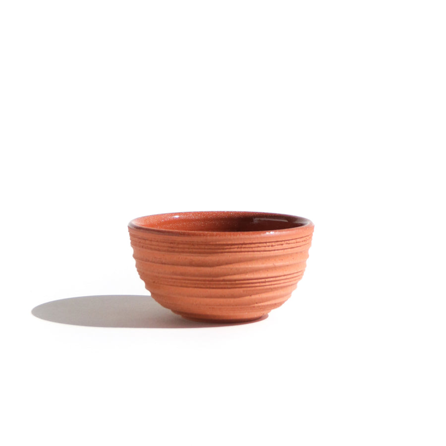 TERRA-COTTA MASK MIXING BOWL