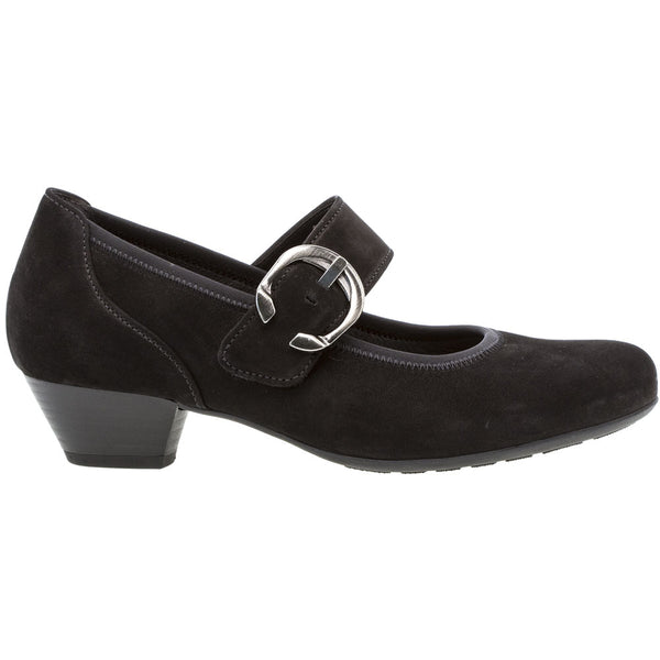 Gabor 06139 Heel in Black Nubuck at Mar-Lou Shoes