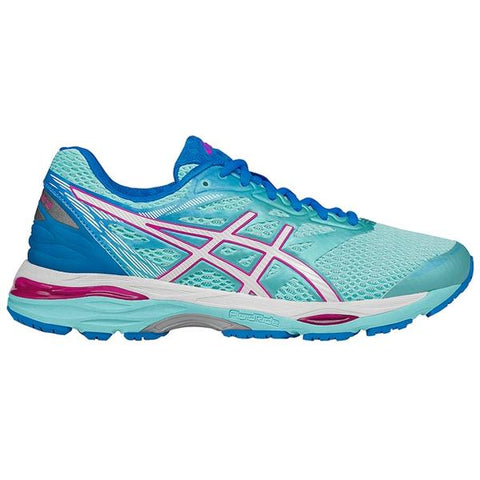 GEL-Cumulus 18 Women's Running in Aqua Splash/White/Pink Glow