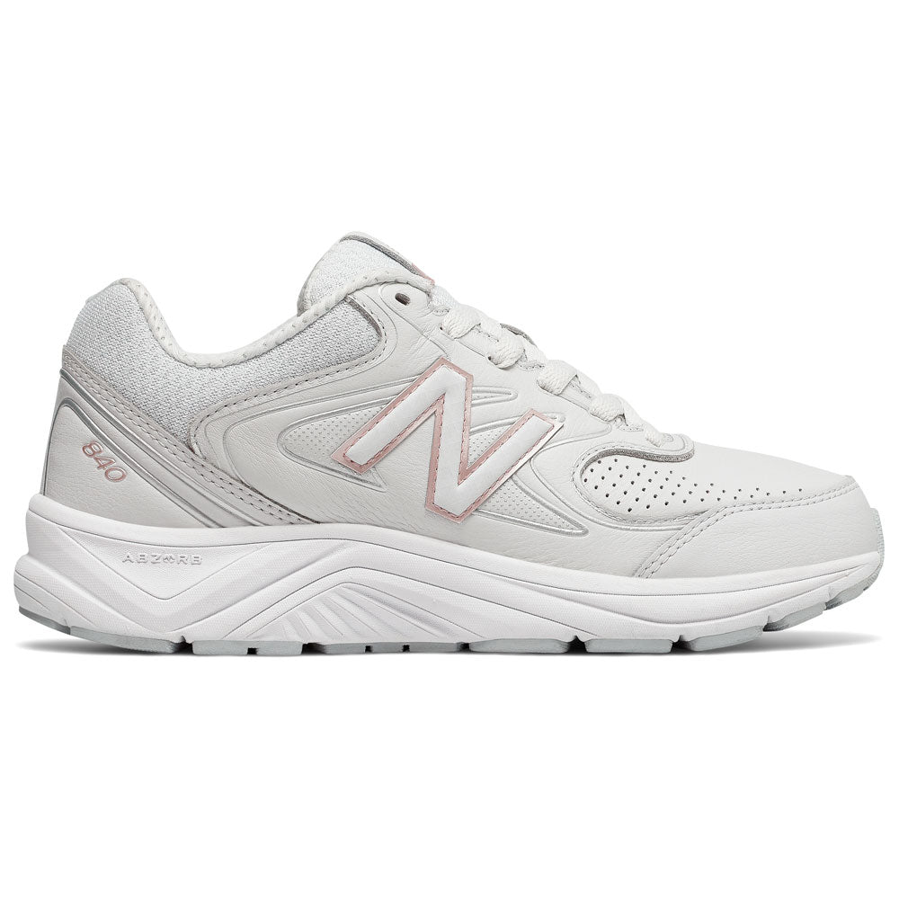 New Balance Women's 840V2 In Grey/Rose Leather at Mar-Lou Shoes