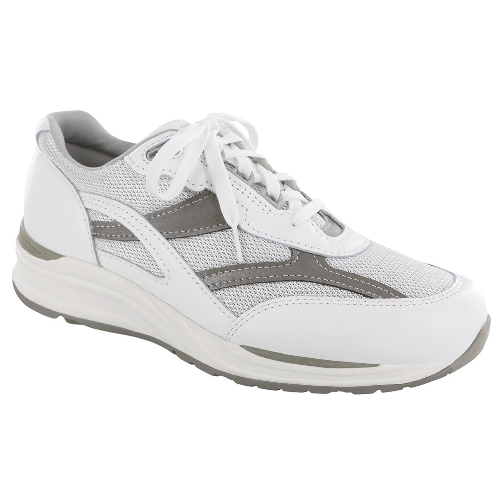 SAS Journey Mesh in White/Grey at Mar-Lou Shoes