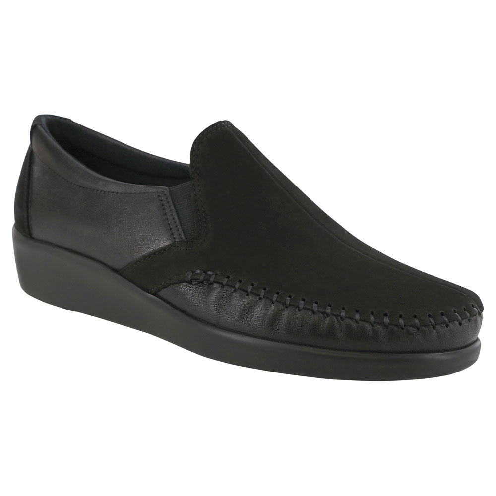 SAS Dream Loafer in Charcoal Nubuck at Mar-Lou Shoes